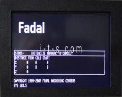 "Fadal LCD Display, 12.1"" CNC88(HS), BNC or VGA with Bezel & Remote"